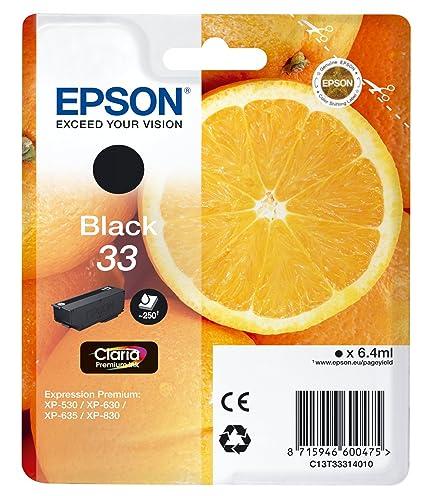 Epson C13T33314010 - Cartucho de tinta, color negro válido para ...