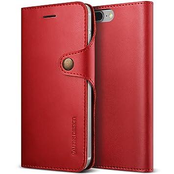 coque iphone 7 plus cuir rouge