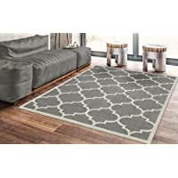 Deals on Ottomanson Contemporary Moroccan Trellis Gray 8x10-ft Rug
