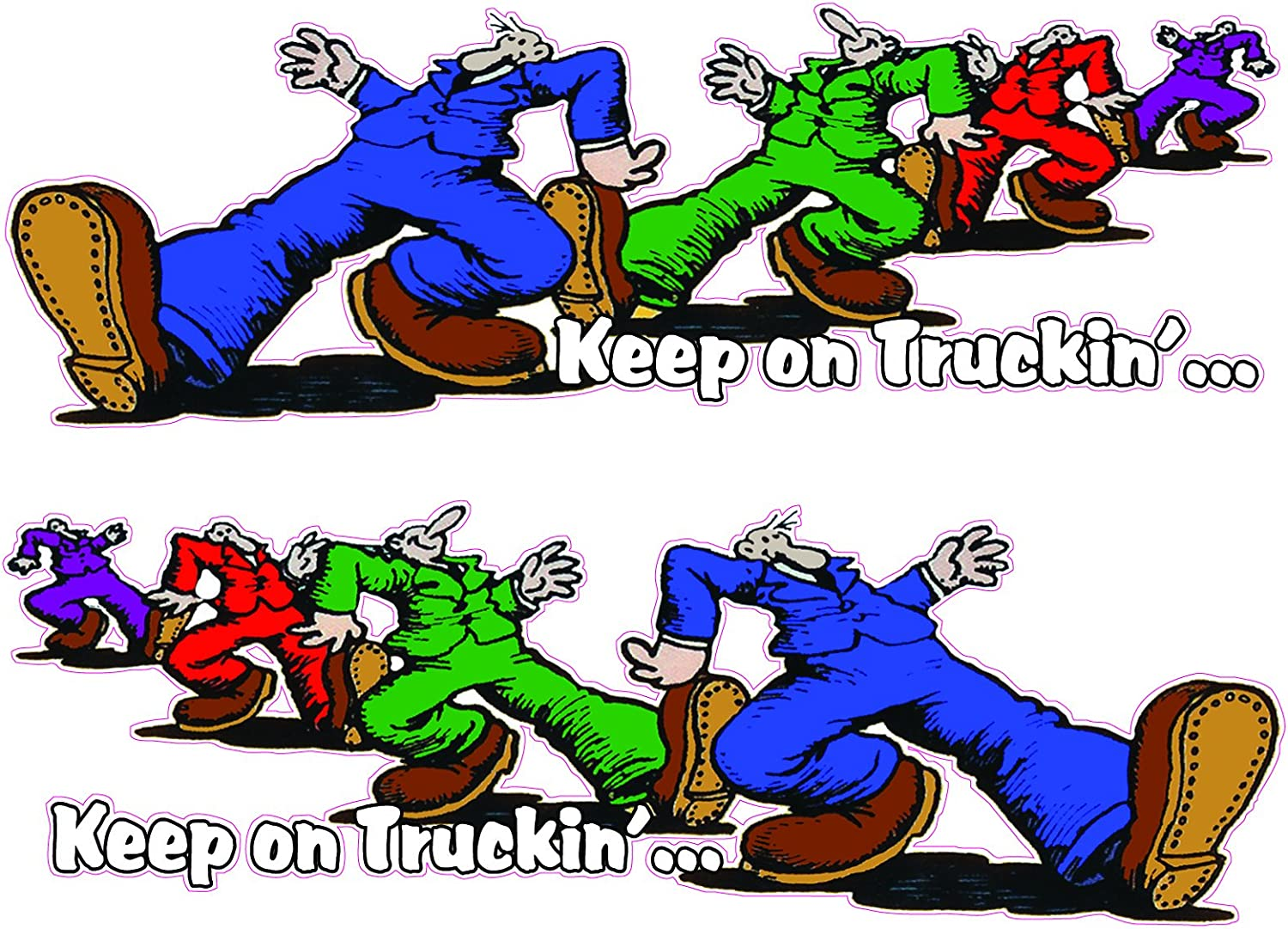 """Keep on Truckin/' Right /& Left Large 24/"""" x 9/"""" Decals Free Shipping"""