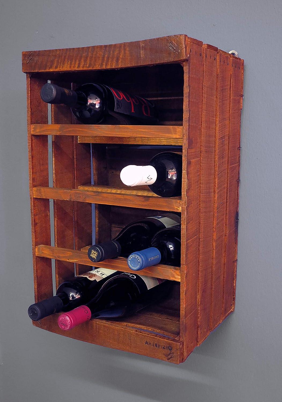 Porta botella de madera // vintage // DIY // upcycling // reciclaje creativo // fruta, vino: Amazon.es: Handmade