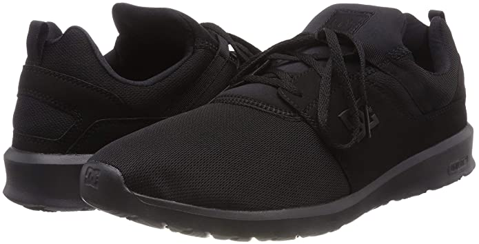 Amazon.com | DC Shoes Mens Heathrow Black Mesh Trainers 9 US | Road Running