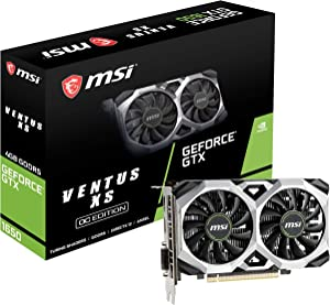 MSI G1650VXS4C Gaming GeForce GTX 1650 128-Bit HDMI/DP 4GB GDRR5 HDCP Support DirectX 12 VR Ready OC Graphics Card (GTX 1650 Ventus XS 4G OC) (Renewed)