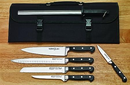 Winco kfp-kita, Kit de 7 piezas Cubertería, cuchillo con afilado acero y compartimento estuche de cuchillos: Amazon.es: Hogar