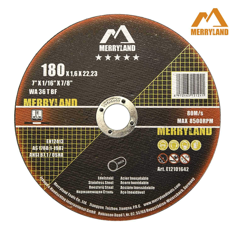 Merryland 180 X 1,6 Experto-line Disco de Corte Acero Inoxidable Metal 25PCS