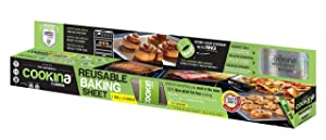 Cookina C092730 Cuisine Reusable Non-Stick Cooking Sheet, Beige