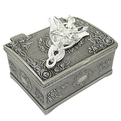 Amazon ruimeng silver plated lord of the rings arwens evenstar ruimeng silver plated lord of the rings arwens evenstar pendant necklace with jewelry box women aloadofball Choice Image