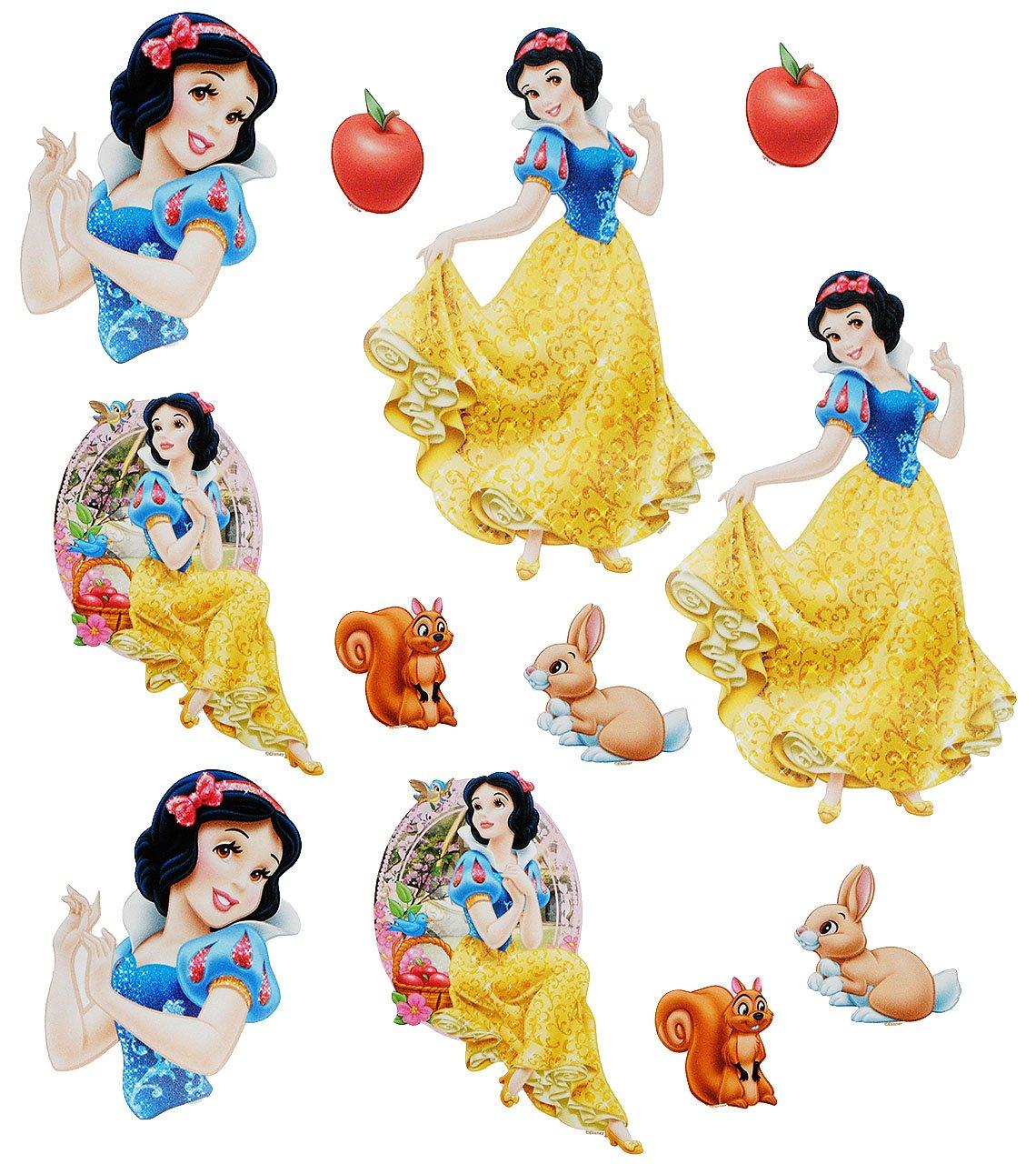 Name Fenste.. Set /_ Fensterbilder Sticker Fenstersticker Aufkleber selbstklebend alles-meine.de GmbH 12 TLG Disney Prinzessin Schneewittchen incl wiederverwendbar