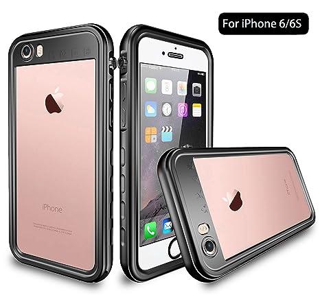 Amazon.com: UZER - Carcasa impermeable para iPhone 6 y 6S ...