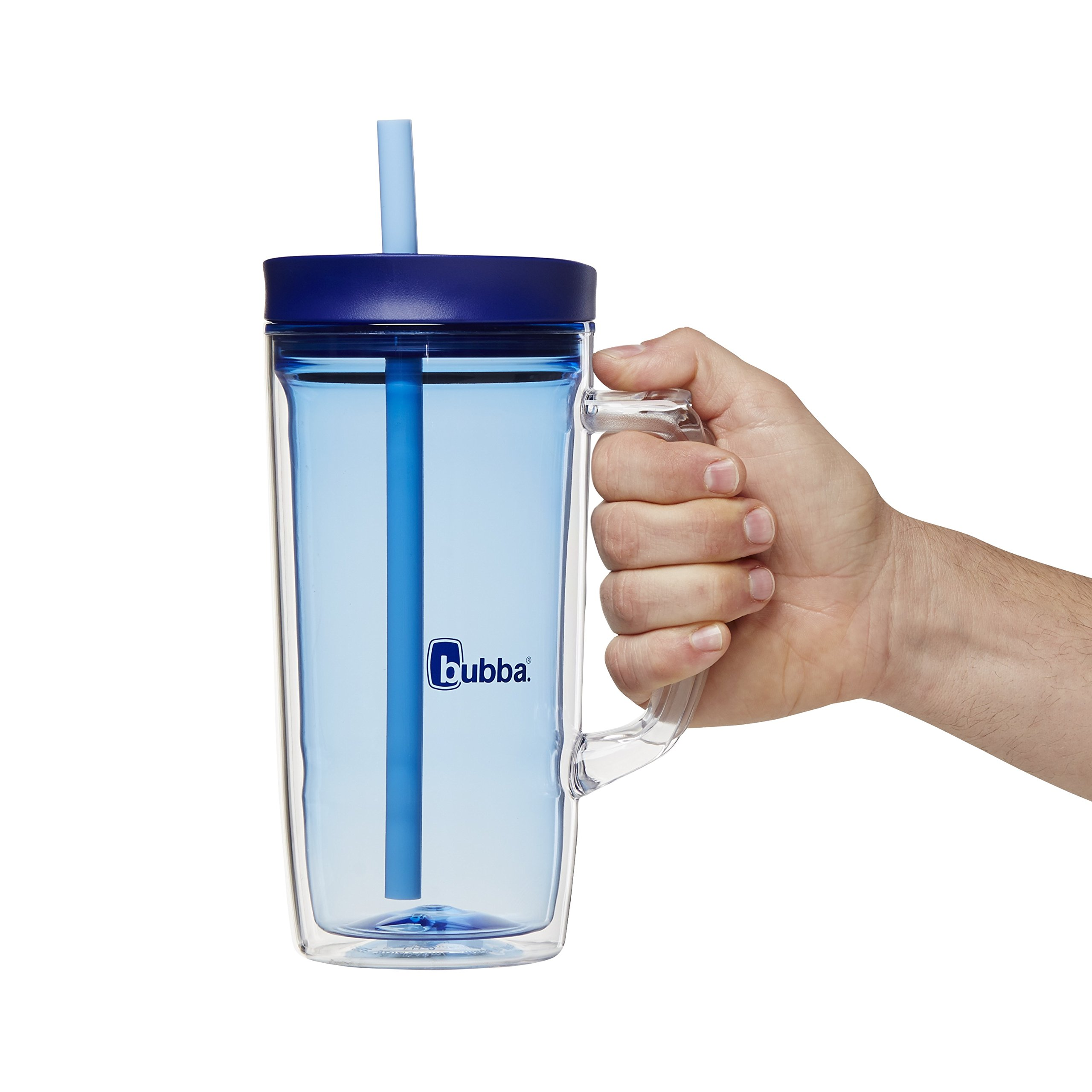 Bubba Envy Double Wall Insulated Straw Tumbler with Handle, 32 oz, Blue by BUBBA BRANDS (Image #4)