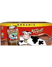 Horizon Organic, Lowfat Organic Milk Box, Chocolate, 8  Fl. Oz (Pack of 18), Single Serve, Shelf Stable Organic Chocolate Flavored Lowfat Milk, Great for School Lunch Boxes, Snacks
