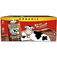 Horizon Organic, Lowfat Organic Milk Box, Chocolate, 8  Fl. Oz (Pack of 18), Single...