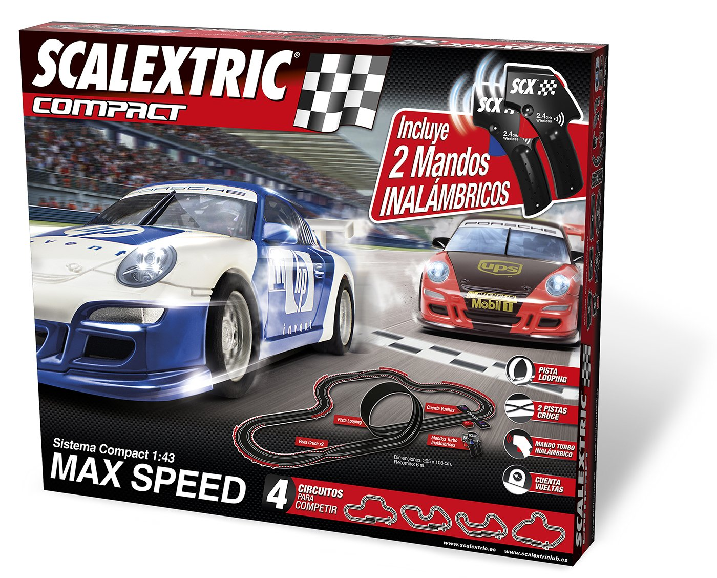 Circuito Scalextric Compact Max Speed inalámbrico por solo 104,51€