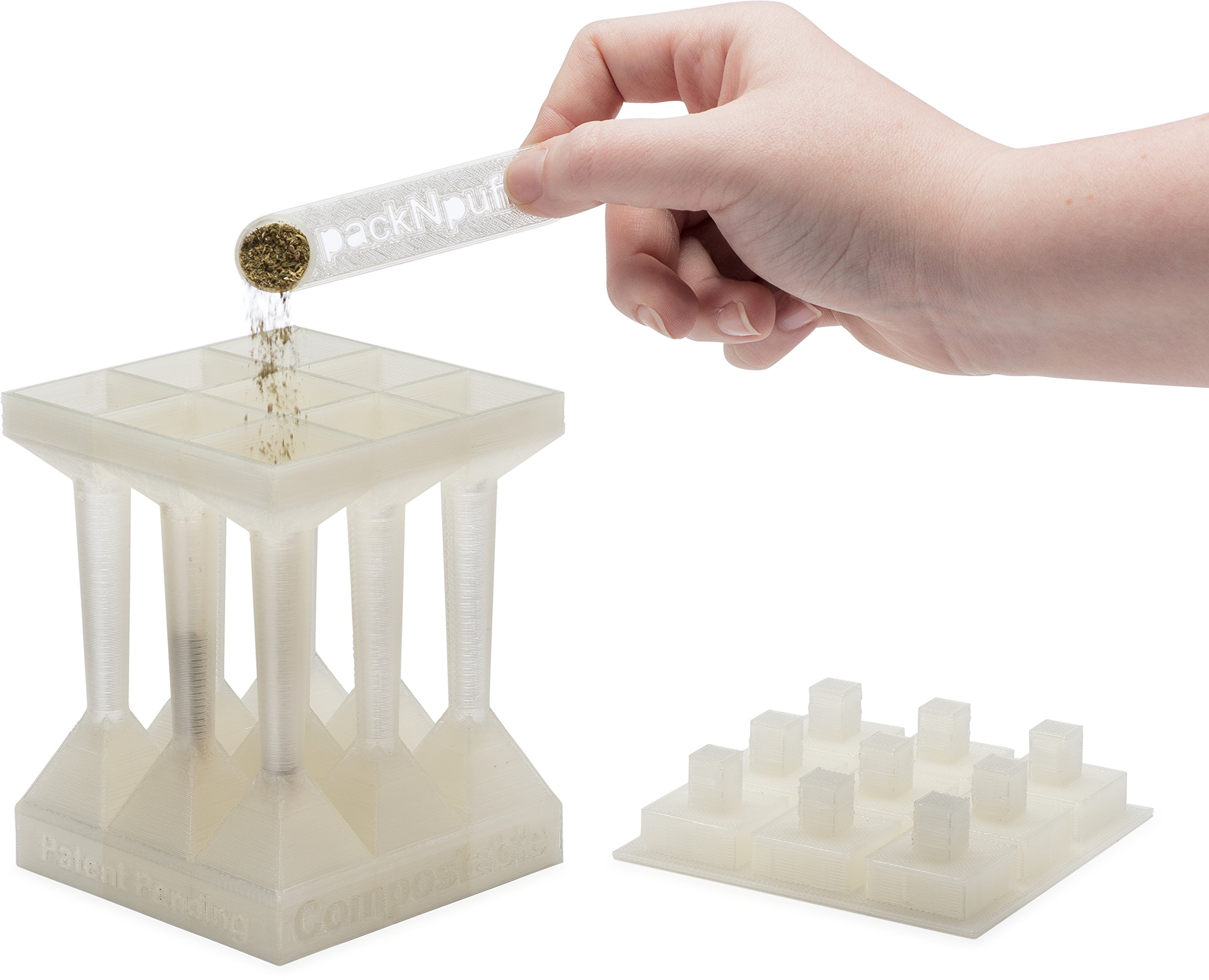 Cone Filling System – Fill 300 Pre-Rolled Cones in 1 Hour! Easily Produce High Quality, Evenly Packed, Custom Sized Cones. Designed for Raw 1 1/4 Cones. Made of Durable Eco-Safe Plastic. by packNpuff