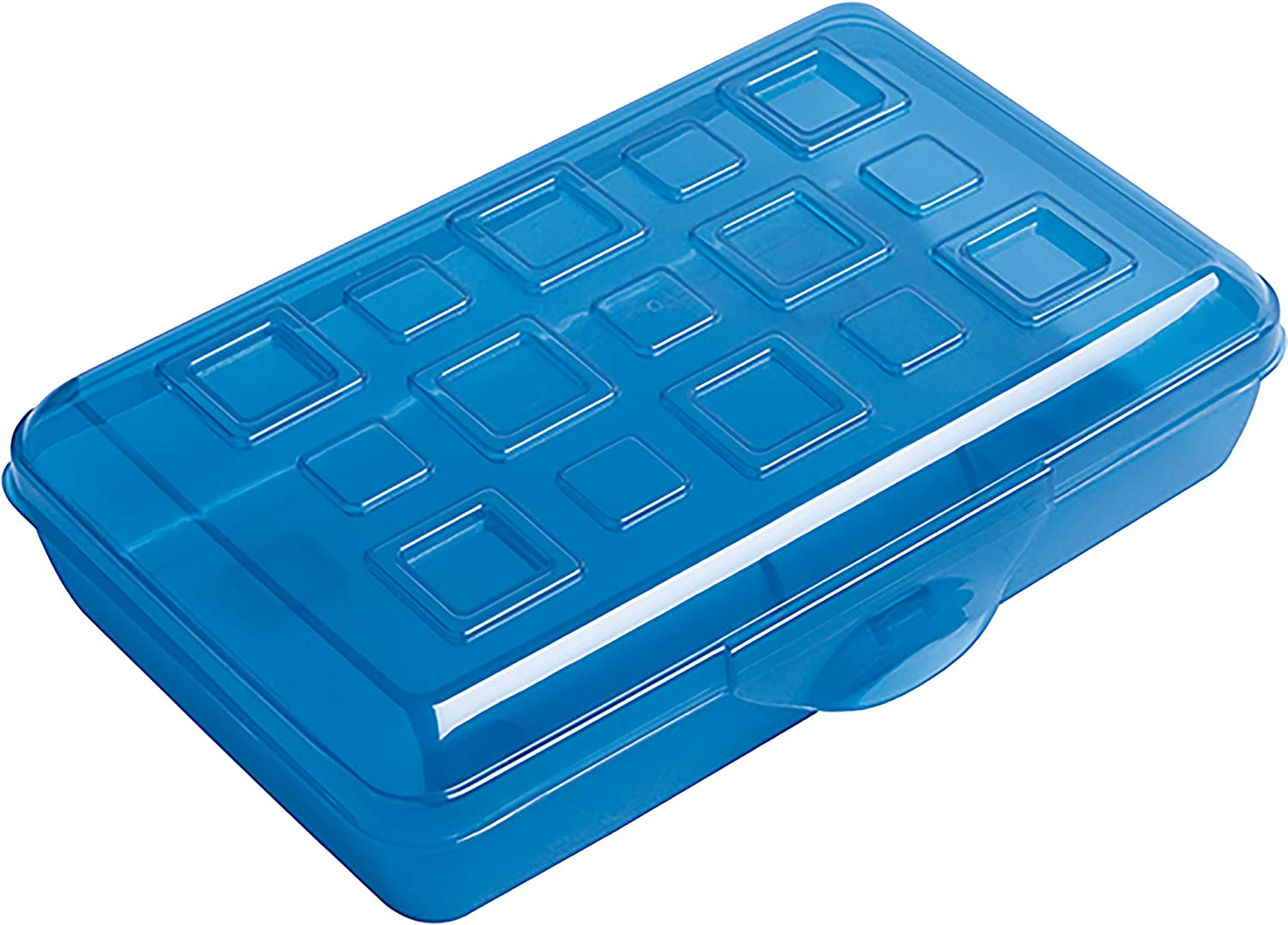 Amazon.com : Sterilite Plastic Pencil Box (17234812) : Large Crayon Box :  Office Products