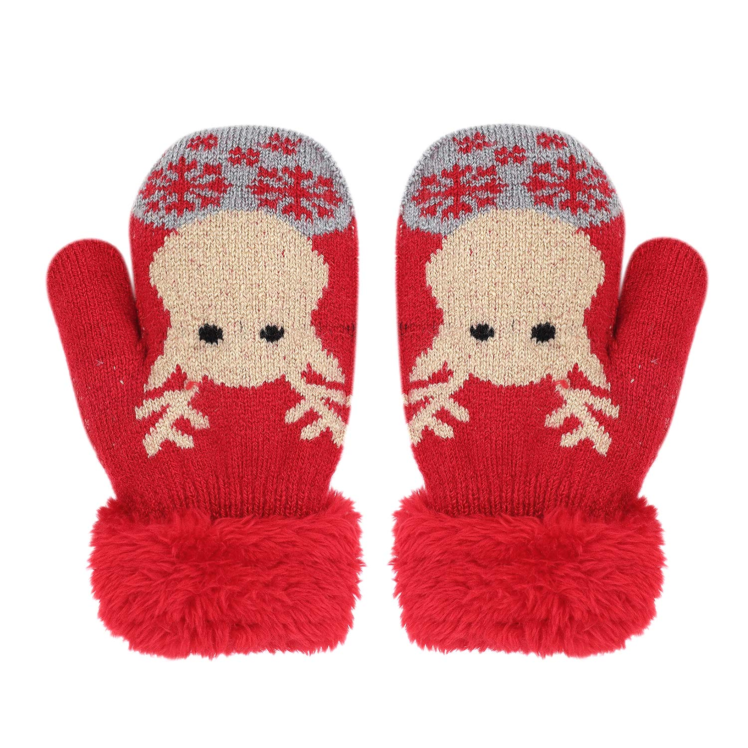 1-5T/3-14T/over 10T Unisex Toddlers Kids Youths Gloves Mittens Warm Thick Mitts Hand Warmer Hand Gloves Cold Weather Gloves