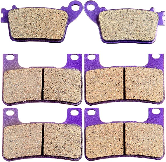 ECCPP FA409 Brake Pads Front and Rear Carbon Fiber Replacement Brake Pads Kits Fit for 2008 2009 2010 2011 2012 2013 2014 Harley-Davidson