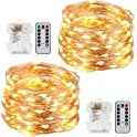 2-Pack Kohree 33-Feet 100-LED String Lights with Remote Control