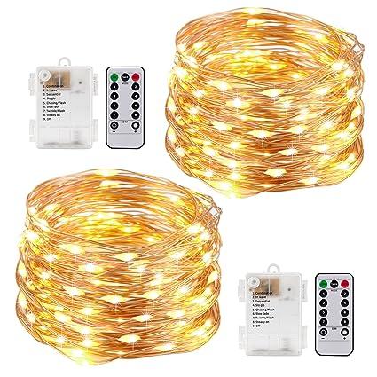Amazon kohree string lights led copper wire fairy christmas kohree string lights led copper wire fairy christmas light with remote control 20ft6m aloadofball Gallery