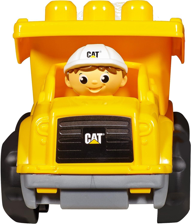 amazon com mega bloks caterpillar lil u0027 dump truck toys u0026 games