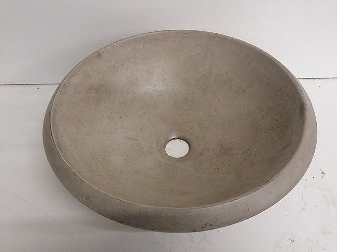 Concrete Vessel Sink   Tan Beige, Bowl Round Shape, Stone Look, Bathroom  Vessel
