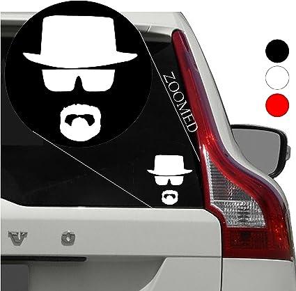 731e2c531 Breaking Bad Heisenberg Face Hat Chihuahua Car Sticker Window Vinyl Decal  Tablet PC Truck (5.5