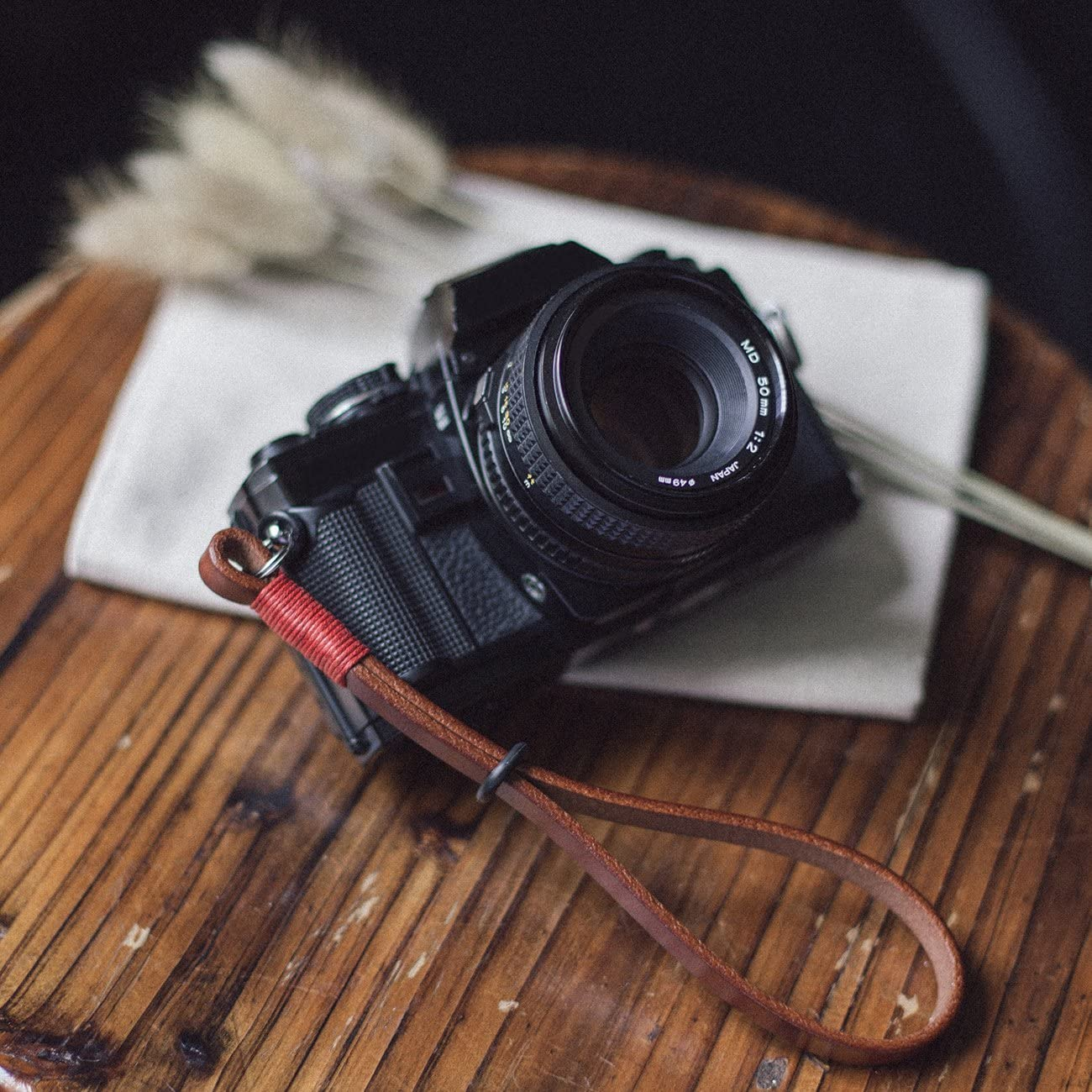 TARION Camera Wrist Strap Genuine Leather Camera Hand Strap Handmade Handcrafted Camera Strap Wriststrap Handstrap Retro Style for Compact SLR DSLR Mirrorless Cameras Coffee