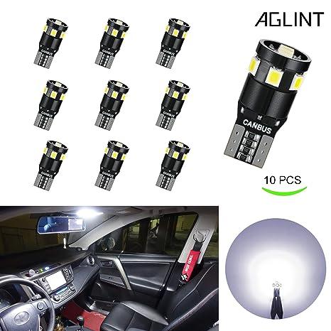 Bombilla LED AGLINT T10 extremadamente brillante 9 SMD CANBUS sin errores W5W 194 168 2825 cuña ...