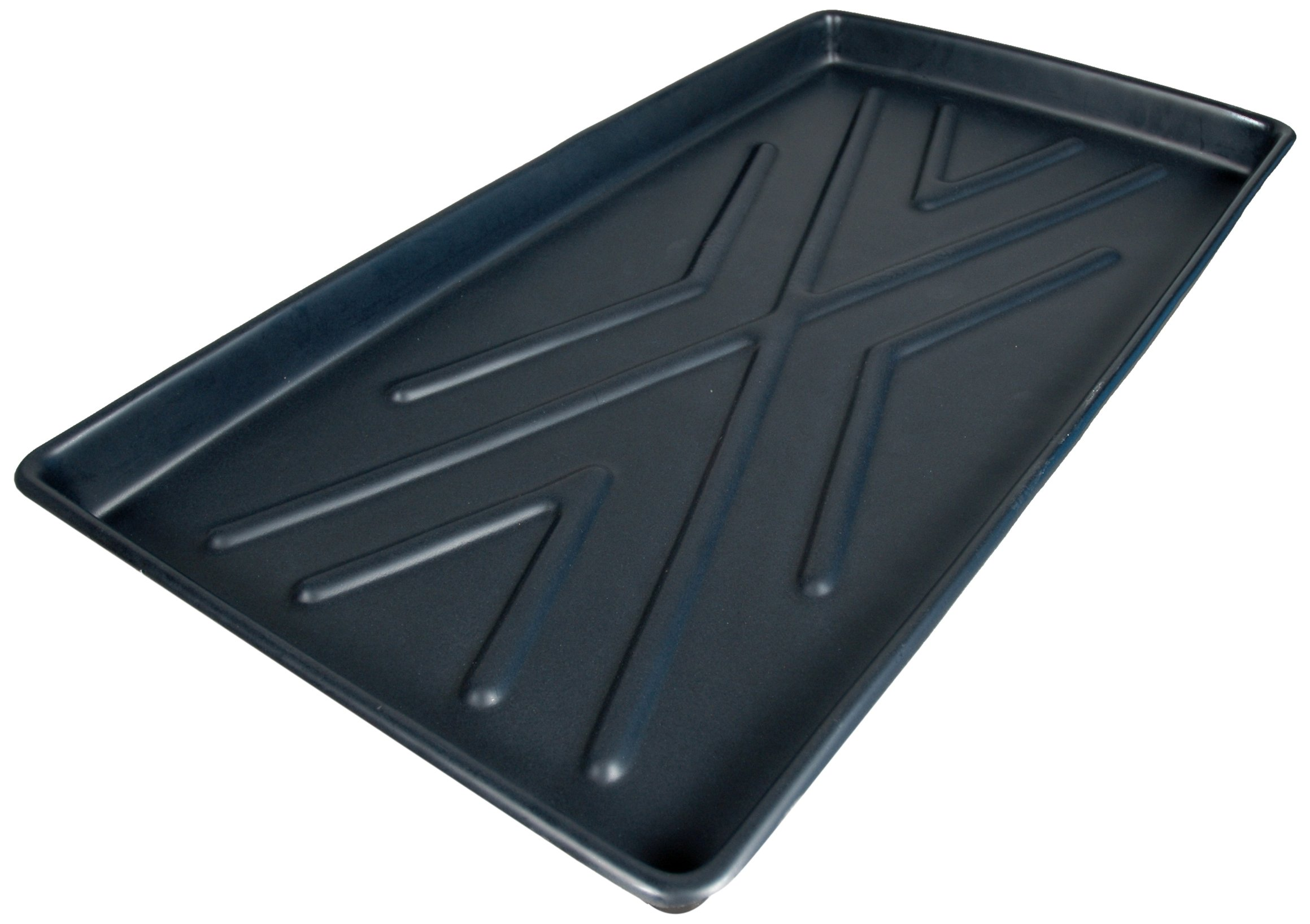 UltraTech 2370 Polyethylene Rack Containment Single Tray, 8 Gallon Capacity, 44'' Length x 23-1/2'' Width x 2-3/4'' Height, Black