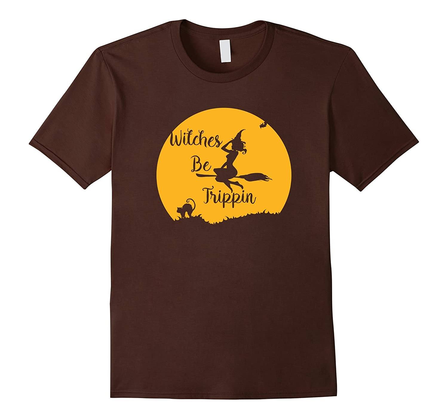 Witches Be Trippin Halloween T Shirt-Art
