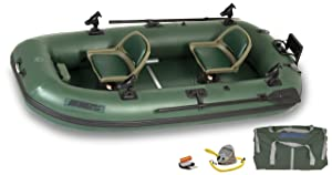 Sea Eagle Stealth Stalker STS10 Frameless inflatable boat and accessories