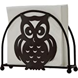 Home-X - Bronze Napkin Holder with Owl Design, A Fun Addition to Any Dinner Table, Kitchen Counter Top, or Picnic Table…