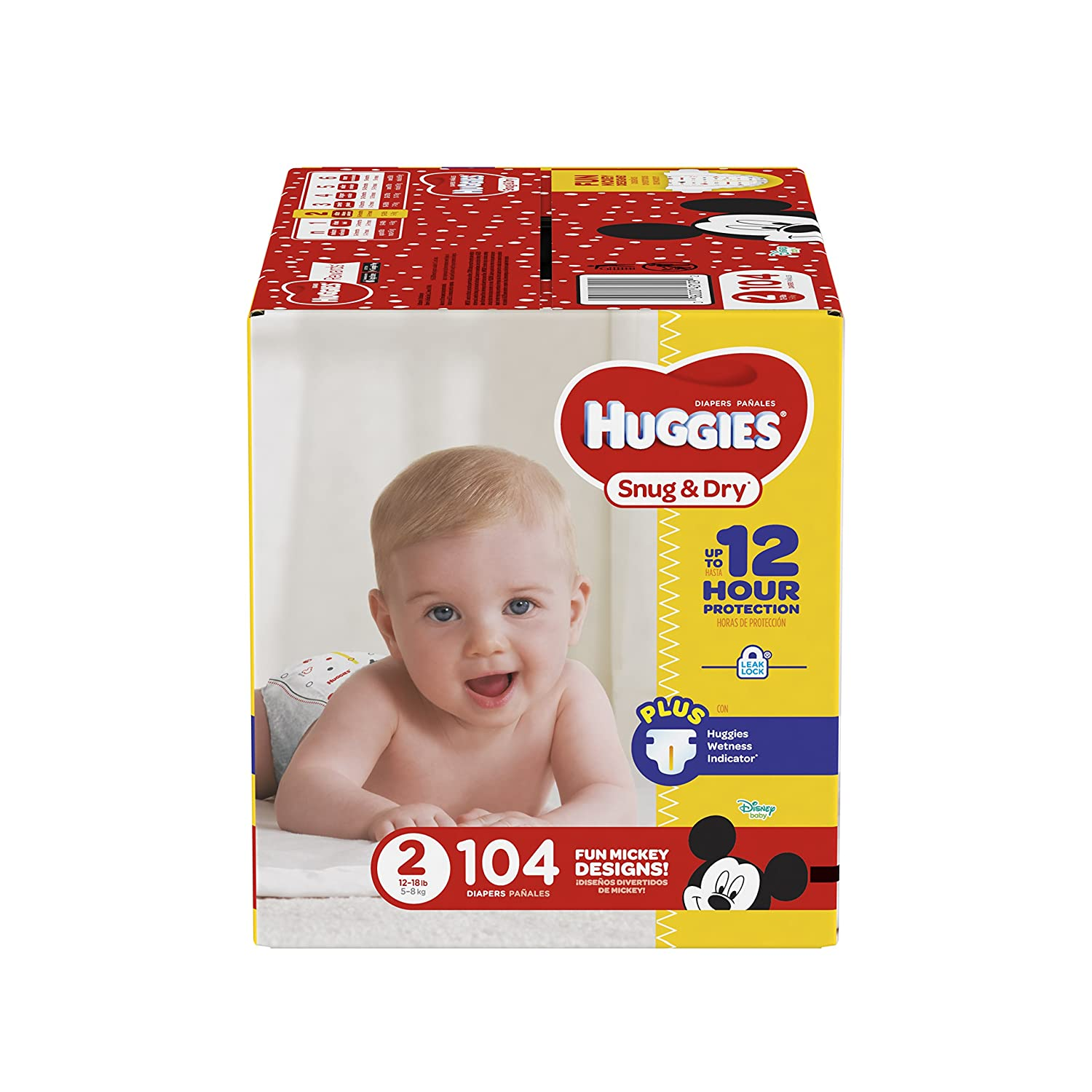 Huggies Snug and Dry Diapers, Size 2, 104 Count by Huggies: Amazon.es: Salud y cuidado personal