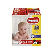 HUGGIES Snug & Dry Diapers, Size 2, 104 Count, BIG PACK (Packaging May Vary)