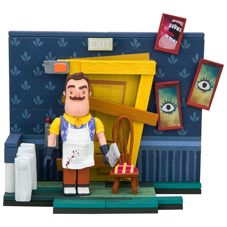 89 Piece McFarlane Toys Hello Neighbor The Basement Door Small Construction Set