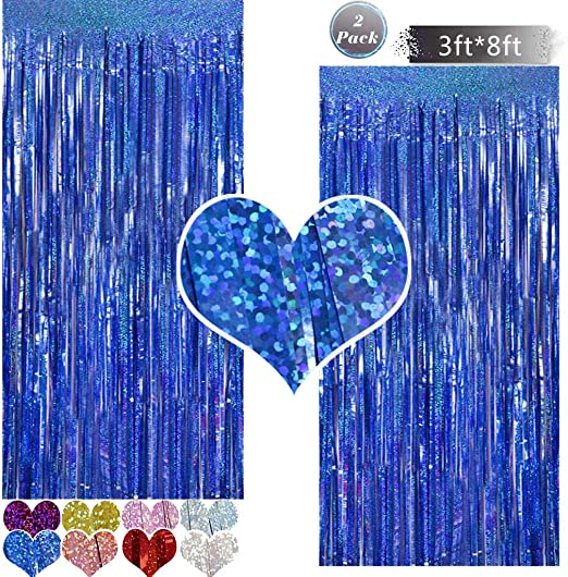 Light Blue Metallic Tinsel Foil Fringe Curtain Backdrop 2 Packs 3ftx8ft Laser Party Backdrop Curtain Cylmfc Rain Curtain For Birthday Party Decorations Photo Booth Backdrop Christmas Halloween Mimbarschool Com Ng
