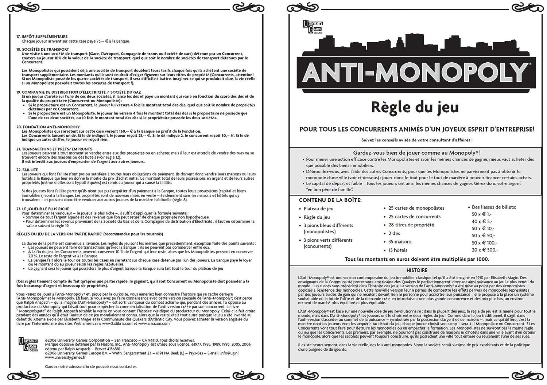 University Games - Jeu de société - Anti-Monopoly: Amazon.fr ...