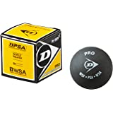 Dunlop Pro Double Dot Rubber Squash Ball, Pack of 4 (Black)