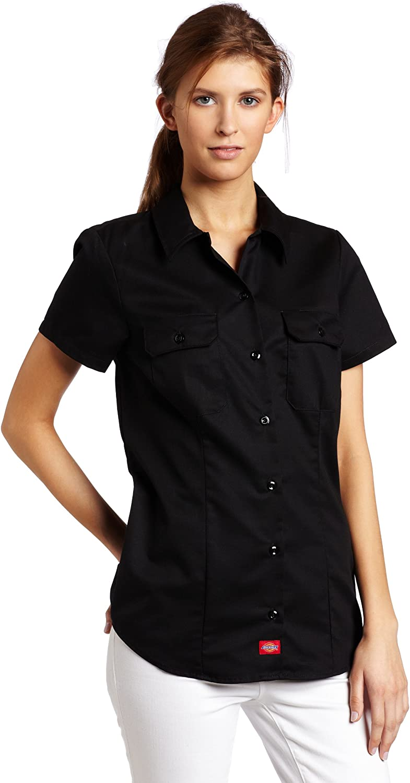 Choose SZ//color Details about  /Dickies Women/'s Short Sleeve V-Neck T-Shirt