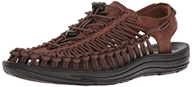 Keen Uneek Leather Herren Sandalen Schwarz
