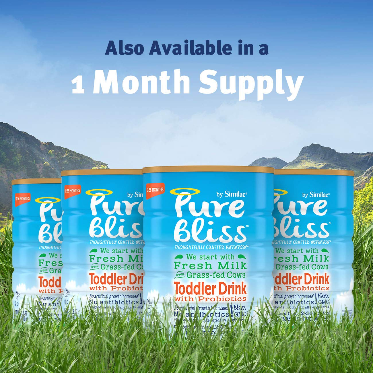 Pure Bliss by Similac Toddler Drink with Probiotics, Starts with Fresh Milk from Grass-Fed Cows, Non-GMO Toddler Formula, 31.8 ounces by Similac (Image #10)