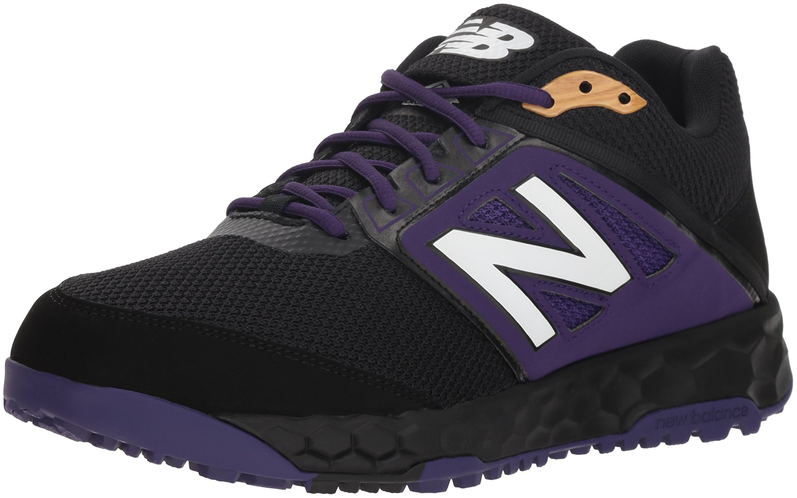 New Balance Men's 3000v4 Turf Baseball Shoe, Black/Purple, 5 D US