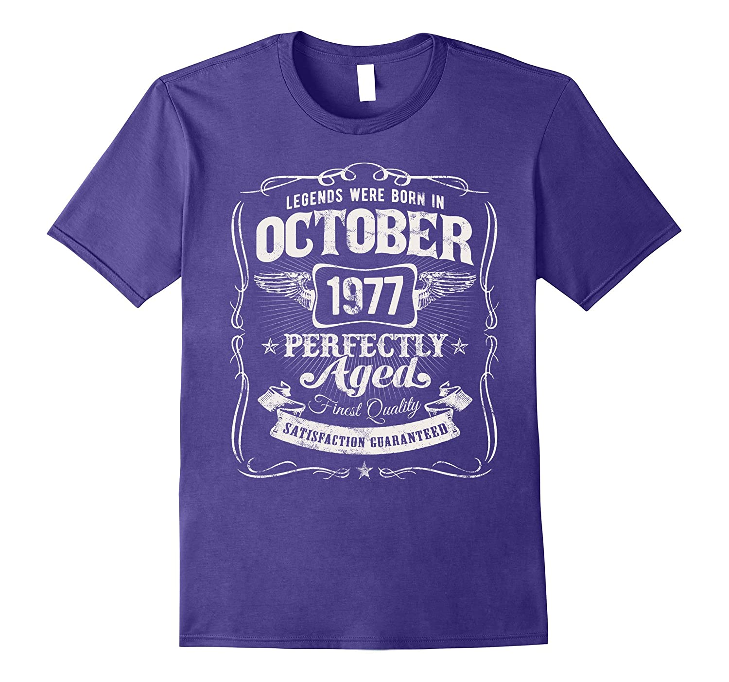 Legends Were Born In October 1977 Shirt 40th Birthday Gift-T-Shirt
