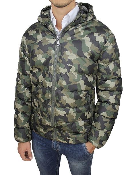 buy online 92ec2 37444 AK collezioni Giubbotto Piumino Uomo Mimetico Verde Militare ...