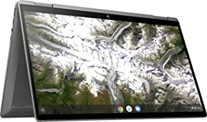 2020 Newest HP x360 2-in-1 14-inch FHD Touchscreen Chromebook – 10th Gen. Intel Core i3-10110U, 8GB RAM, 64GB eMMC, B&O Audio, WiFi 6, Backlit Keyboard, Fingerprint Reader - Mineral Silver (Renewed)