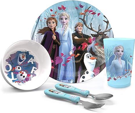 Juego de almuerzo de 5 piezas Frozen iridescent Aqua.