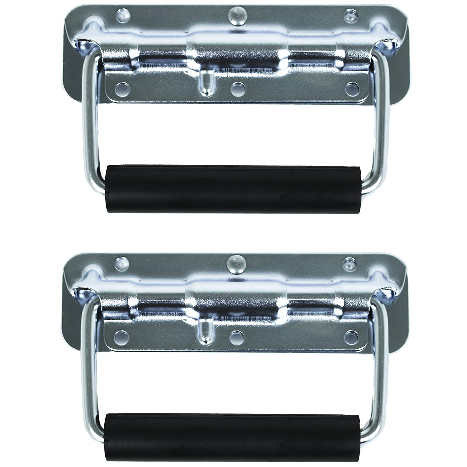 TCH Hardware Spring Loaded Steel Surface Mount Handle with Padded Rubber Grip Case Chest Cabinet Trunk
