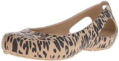 66f0df34e58289 crocs Women s Kadee Animal Print Flat