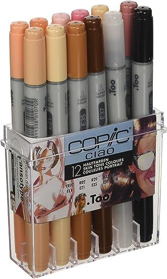 Copic Ciao - Lápices de maquillaje (12 unidades), tonos claros: Amazon.es: Oficina y papelería