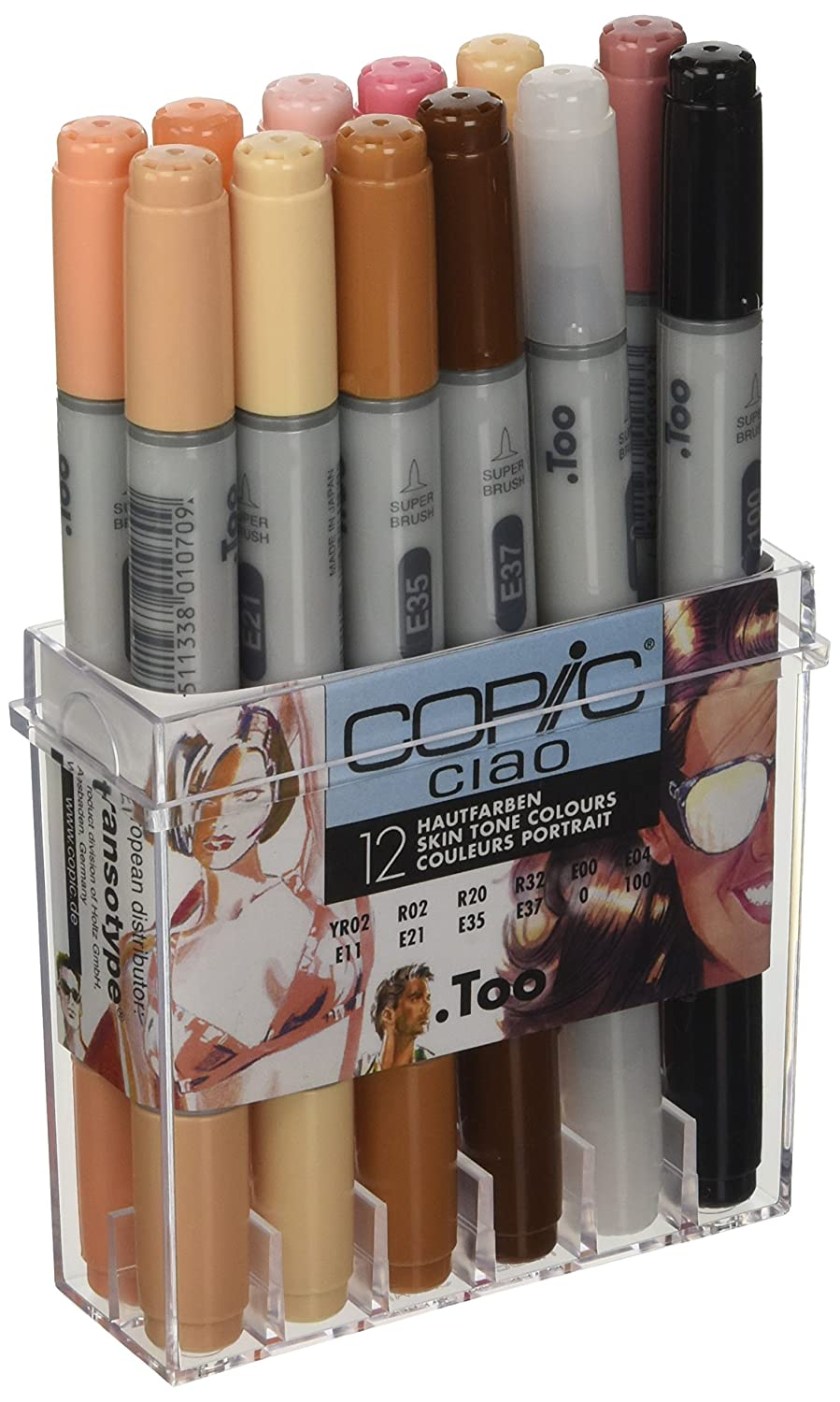 Copic Ciao Marker, 12-er Set, hautfarben 22075705